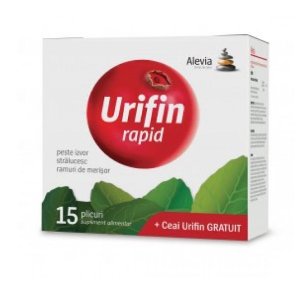Pachet Urifin Rapid 15 plicuri + Ceai Urifin 20 plicuri , Alevia imagine produs 2021