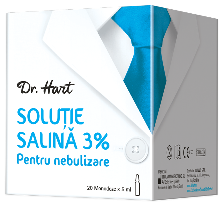Dr.Hart Solutie salina 3%, 20 monodoze imagine produs 2021