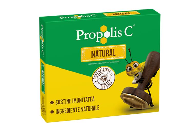 Propolis C Natural 100mg, 20 comprimate, Fiterman imagine produs 2021