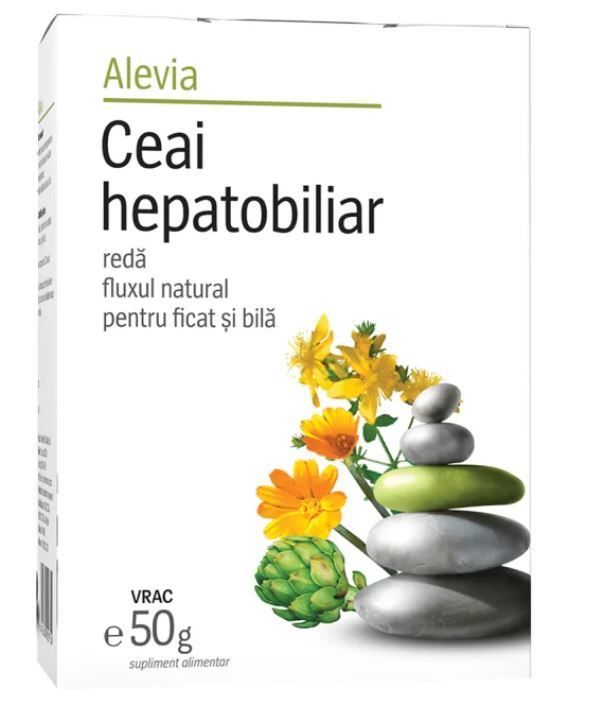 Ceai hepatobiliar, 50g, Alevia drmax poza