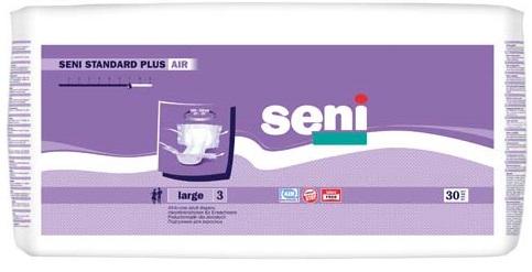 Scutece pentru adulti Standard Plus Air, Large, 30 bucati, Seni