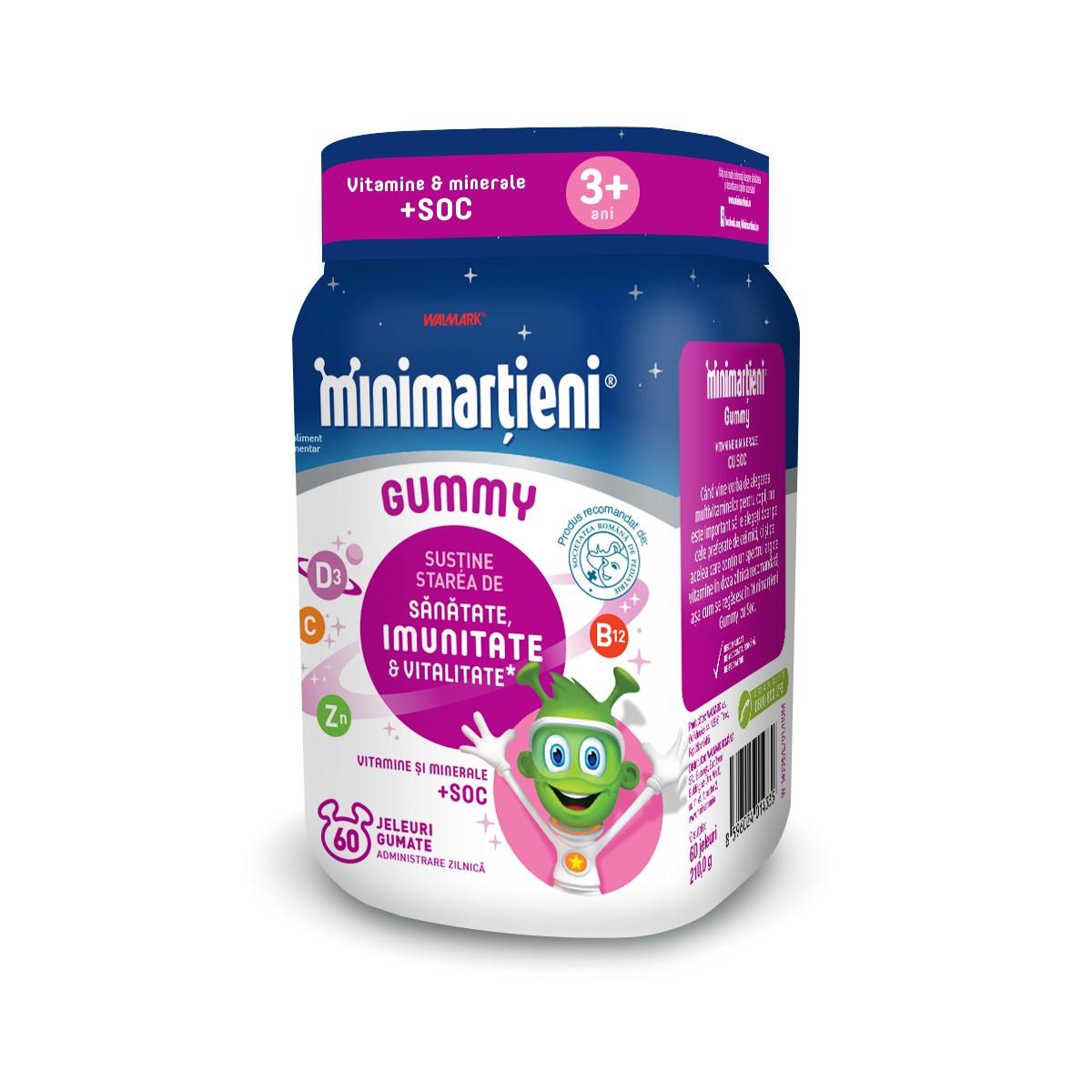 Minimartieni Gummy cu soc, 60 jeleuri, Walmark drmax.ro