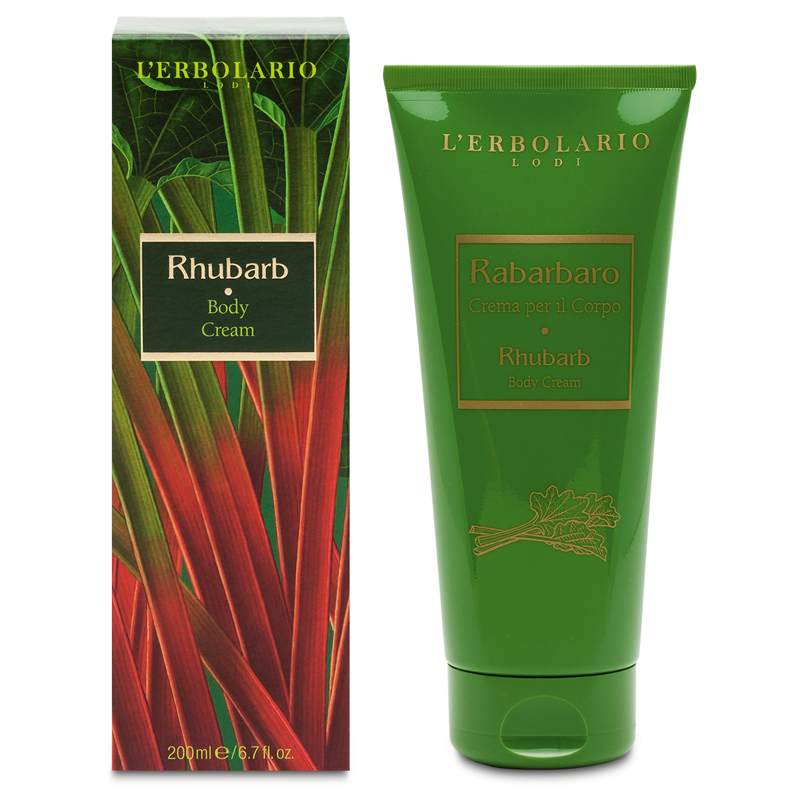 L'Erbolario, Crema de corp Rhubarb, 200ml imagine produs 2021