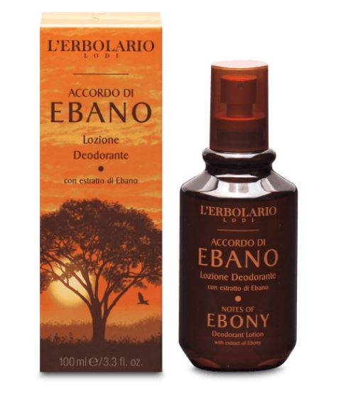 Deodorant Lotiune Notes Of Ebony, 100ml, L'Erbolario imagine produs 2021