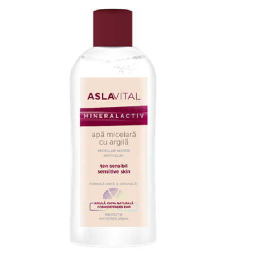 Apa micelara pentru ten sensibil cu argila, 150ml, AslaVital