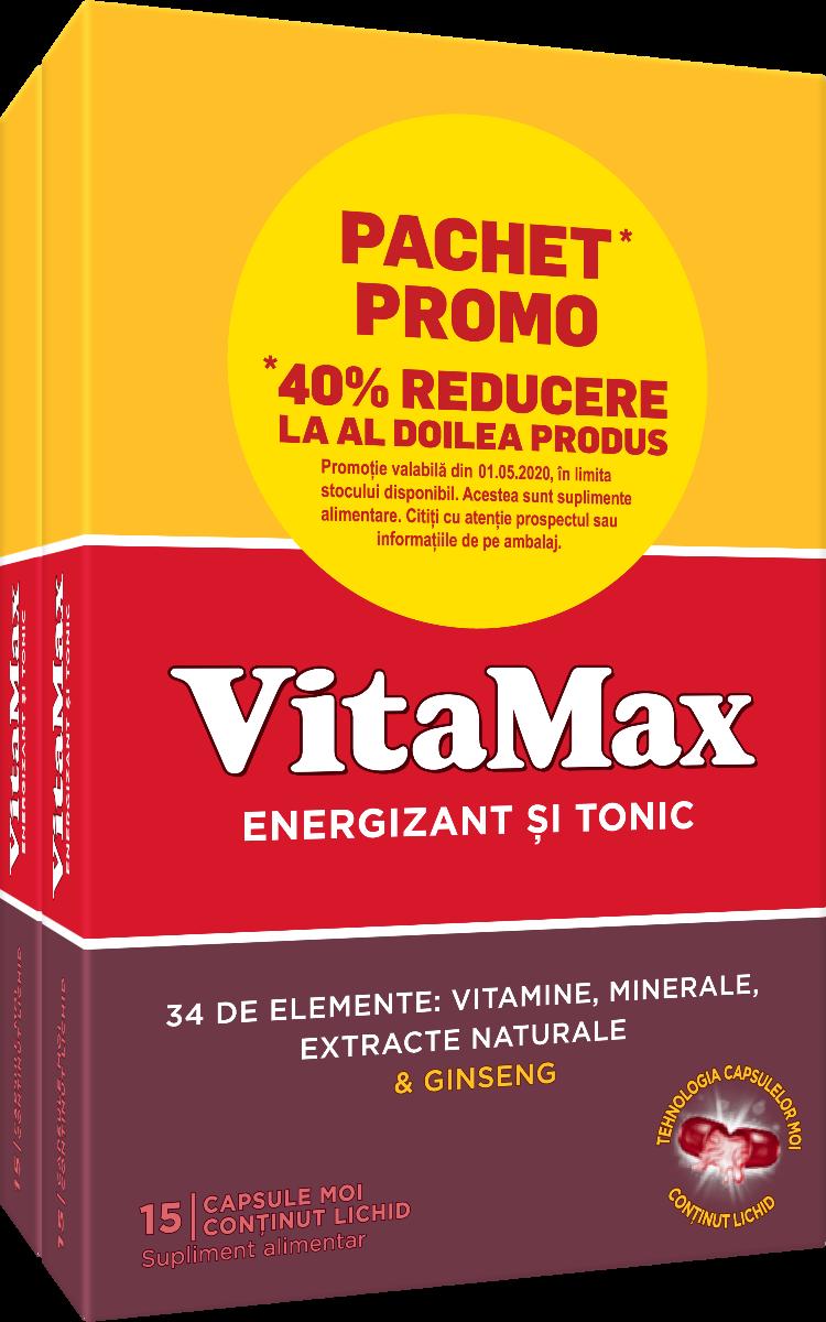 Pachet Vitamax, 15+15 capsule, Perrigo imagine produs 2021
