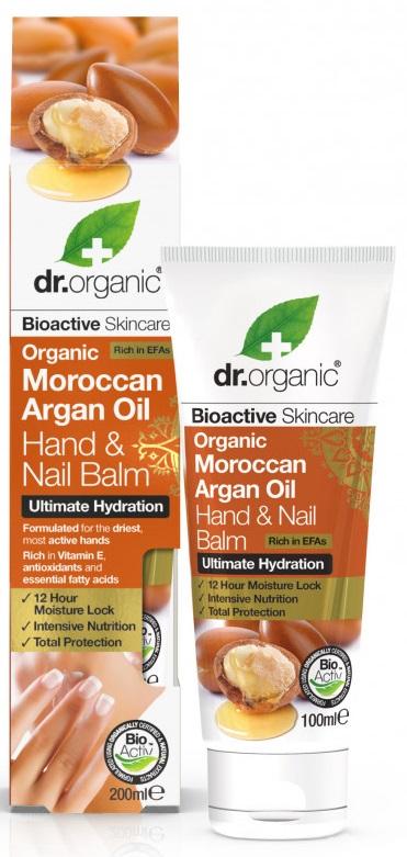 Dr Organic Argan Balsam pentru maini si unghii 100ml drmax.ro
