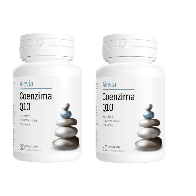 Pachet Coenzima Q10, 30 + 30 comprimate, Alevia imagine produs 2021