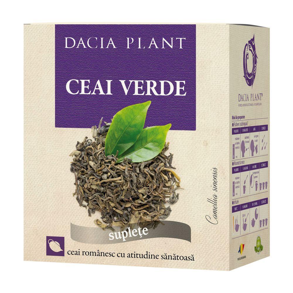 Ceai verde, 50g, Dacia Plant
