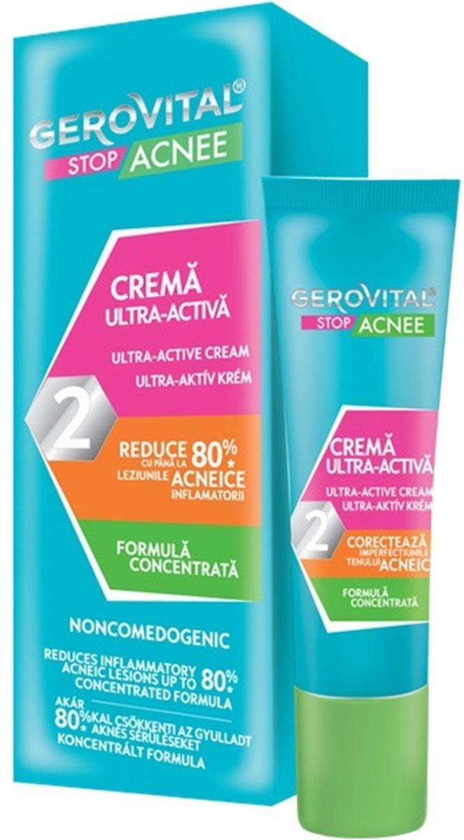 Crema ultra activa 2 Stop Acnee, 15ml, Gerovital