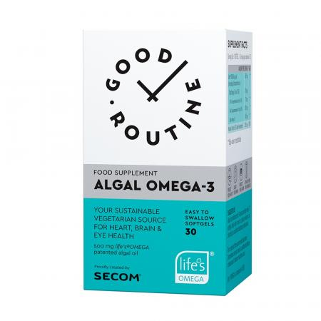 Algal Omega-3 Good Routine, 30 capsule, Secom imagine produs 2021