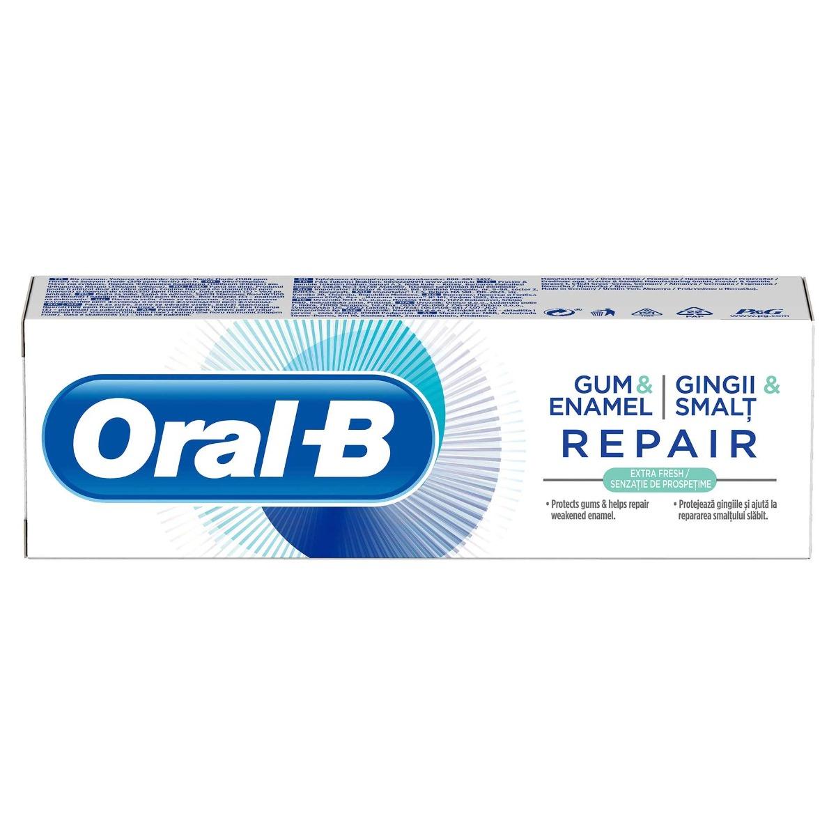 Pasta dinti Gum&Enamel Repair Extra Fresh, 75ml, Oral-B