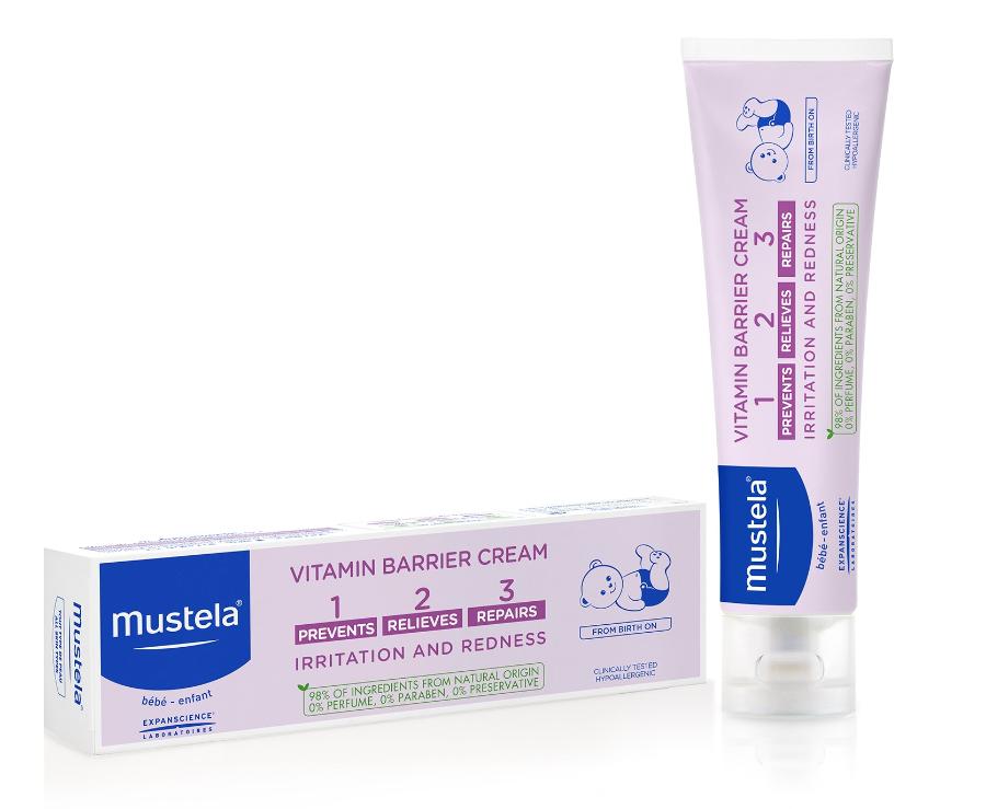 Crema impotriva iritatiei de scutec, 1-2-3 Vitamin Barrier, 100 ml, Mustela la preț mic imagine