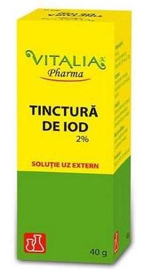Tinctura de iod 2%, 40 g, Vitalia