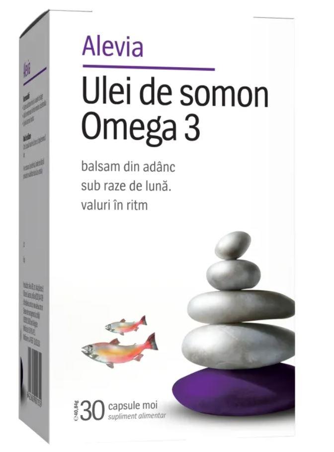 Ulei de somon si Omega 3, 30 capsule, Alevia la preț mic imagine
