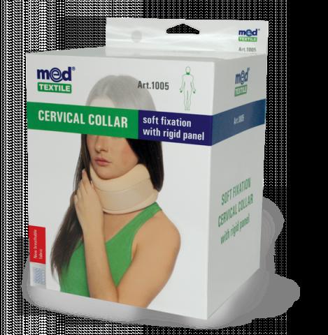 Guler cervical cu fixare usoara si tija de sustinere Nr. 3, 1 bucata, MedTextile drmax.ro
