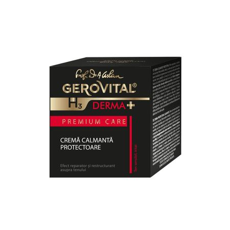 Crema calmanta protectoare GH3 Derma+ Premium Care, 50ml, Gerovital