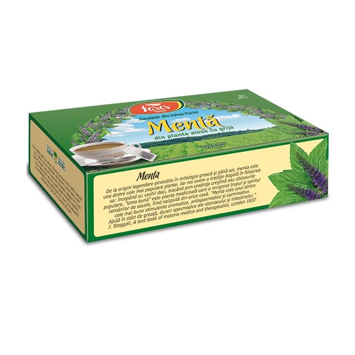 Ceai de menta, 80 plicuri, Fares drmax.ro