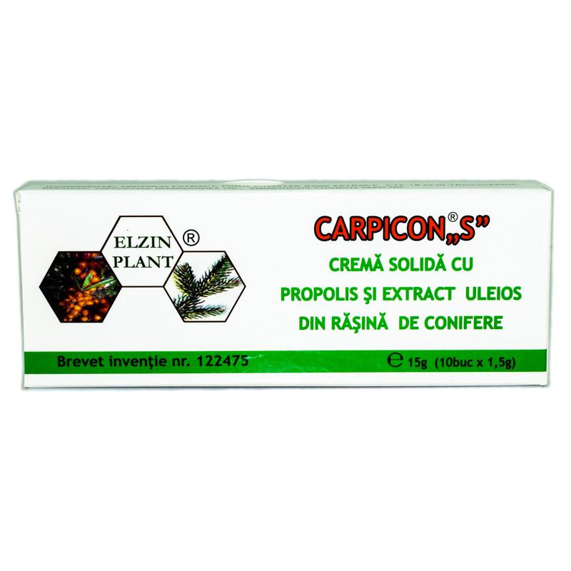 Supozitoare Carpicon S, blister 10 bucati x1,5g, Elzin Plant