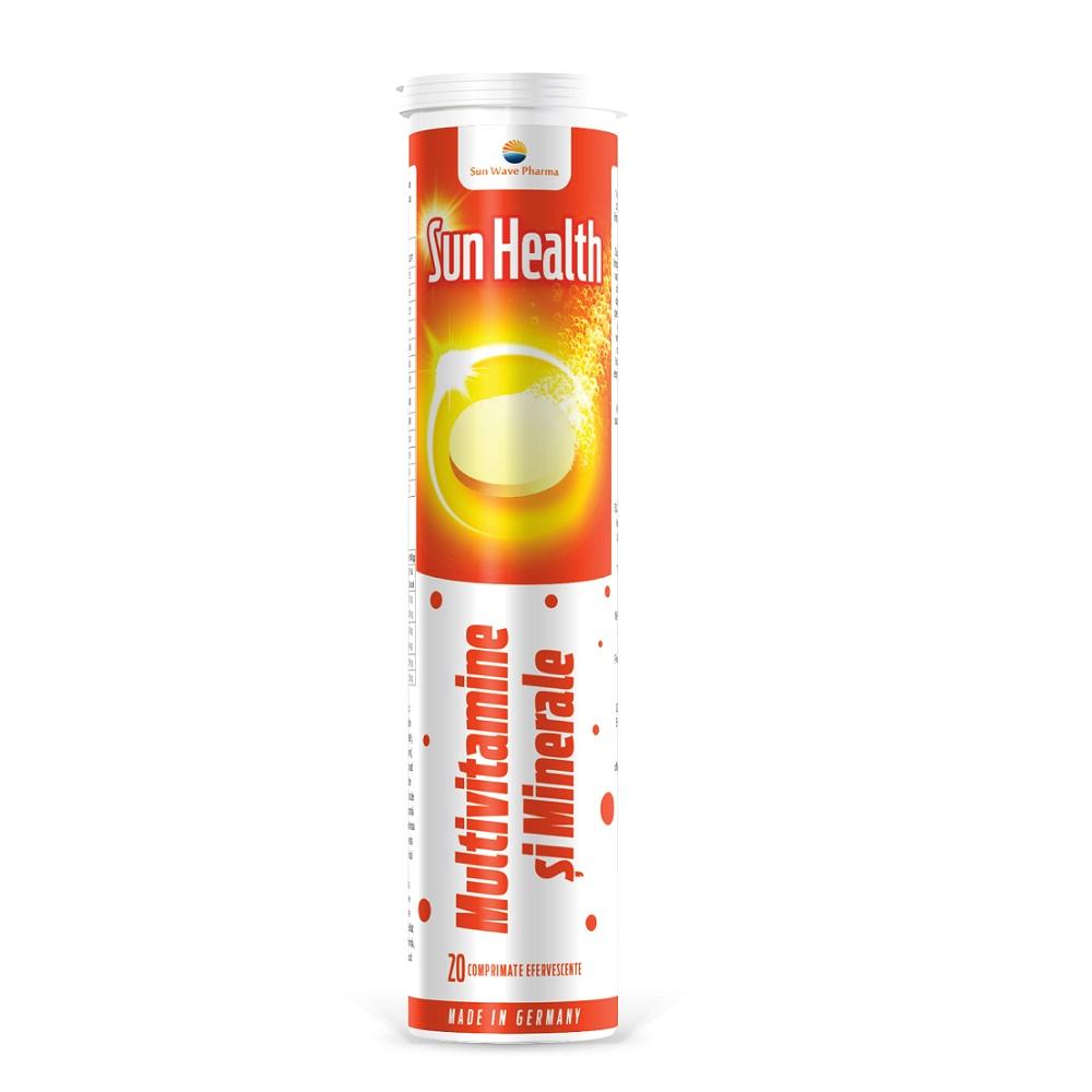 Multivitamine si minerale Sun Health, 20 comprimate, Sun Wave Pharma imagine produs 2021