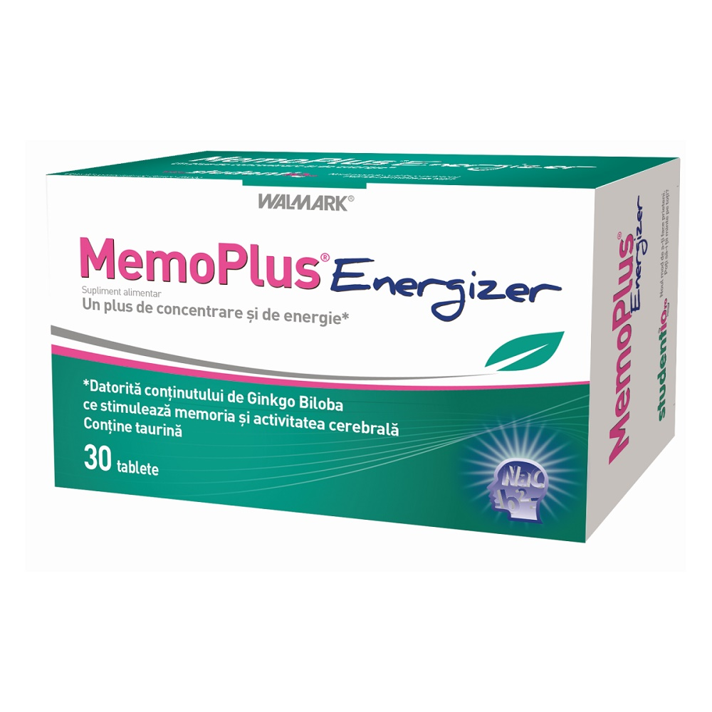 MemoPlus Energizer, 30 tablete, Walmark la preț mic imagine