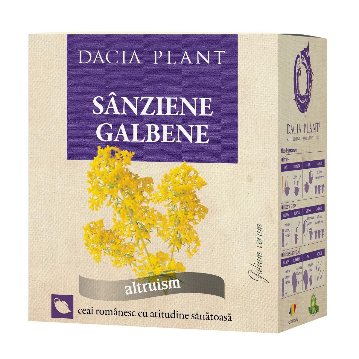Ceai de sanziene galbene, 50g, Dacia Plant drmax.ro