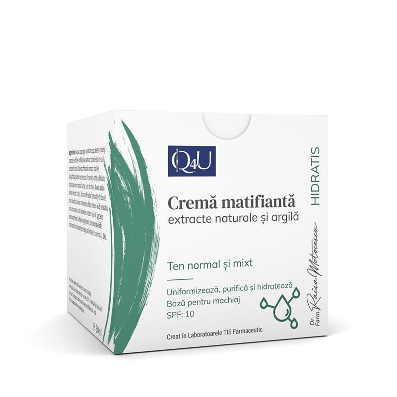Crema matifianta Q4U, 50ml, Tis Farmaceutic drmax.ro