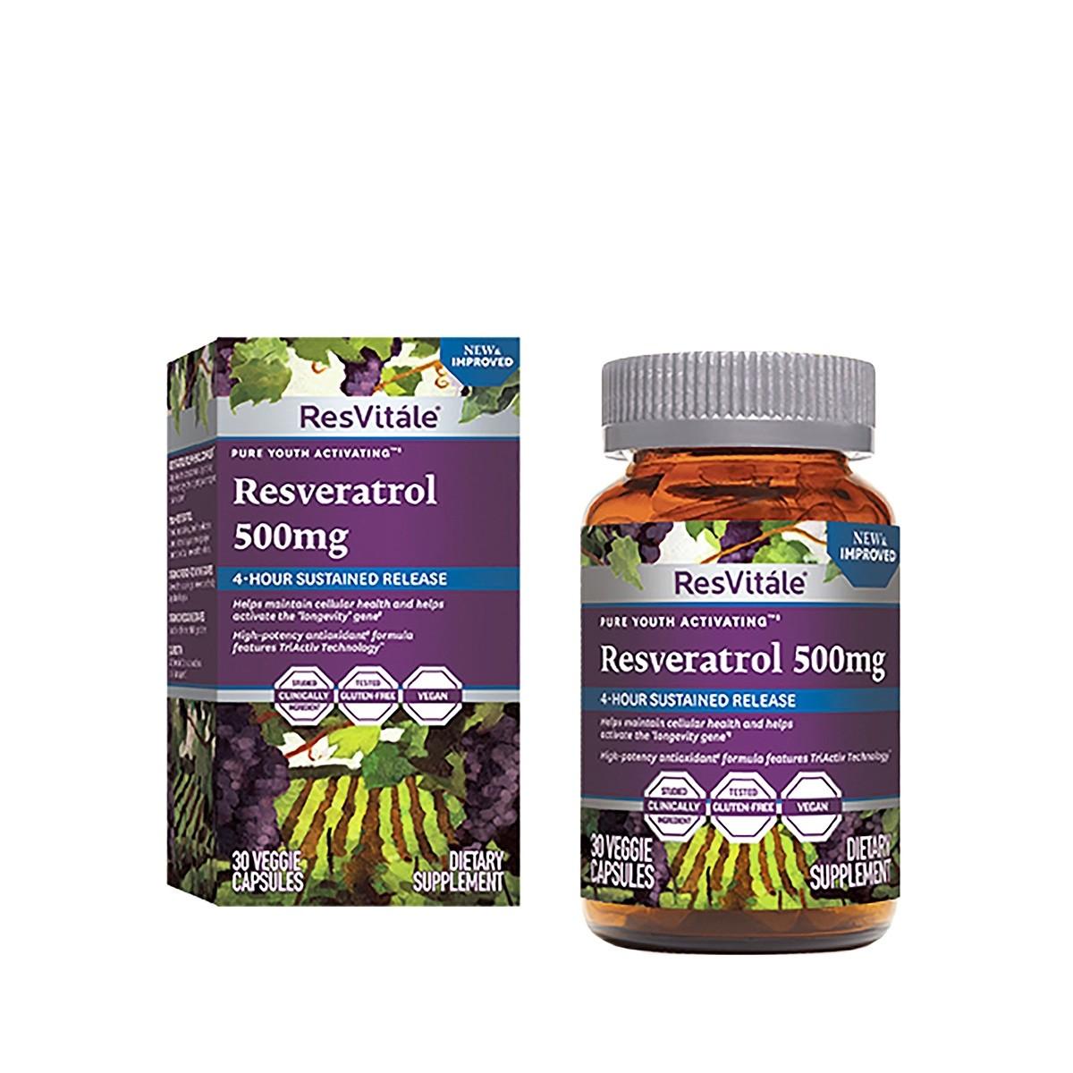 Resveratrol 500mg, 30 capsule, GNC imagine produs 2021
