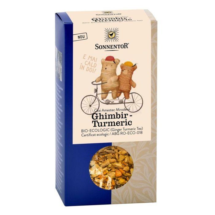 Ceai Bio Ghimbir Turmeric, 120g, Sonnentor drmax.ro