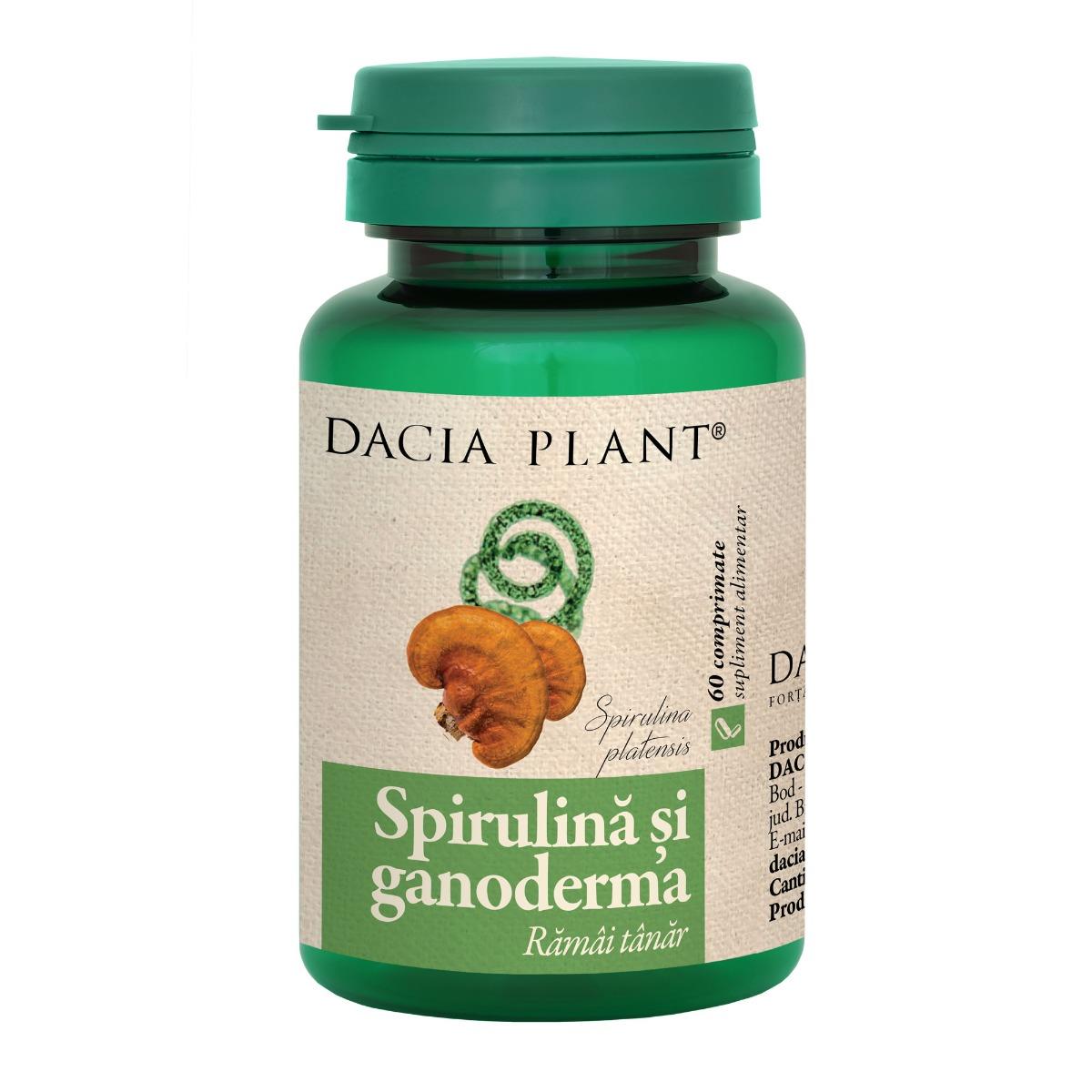 Spirulina si ganoderma, 60 comprimate, Dacia Plant drmax.ro