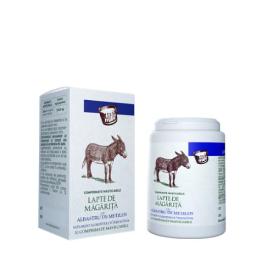 Lapte de magarita cu albastru de metilen, 20 comprimate masticabile, Sintofarm imagine 2021 drmax.ro