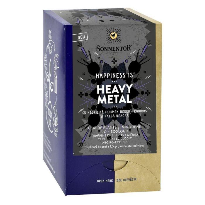 Ceai Bio Happiness Heavy Metal, 18 plicuri, Sonnentor drmax.ro
