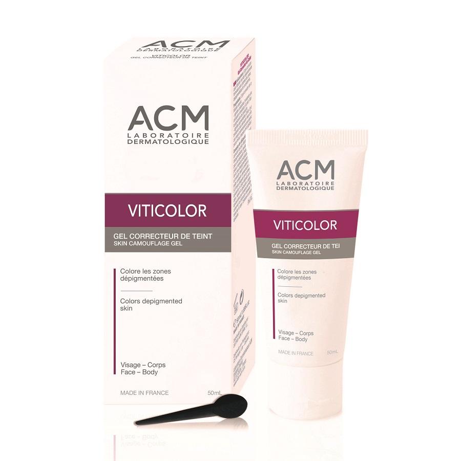 Gel colorant piele depigmentata Viticolor, 50ml, ACM imagine produs 2021