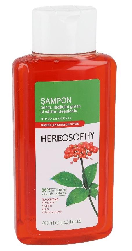 Herbosophy, Sampon cu extract de Ginseng, 400ml