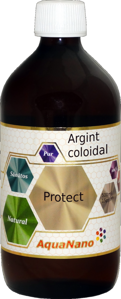 Argint Coloidal Protect 15 ppm AquaNano, 480ml, Aghoras drmax.ro