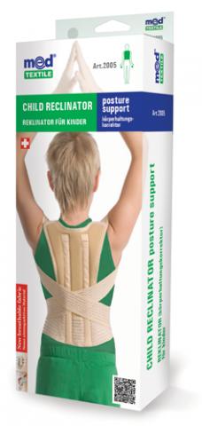 Orteza toracica elastica pentru copii cu 2 atele rigide L, 1 bucata, MedTextile drmax.ro