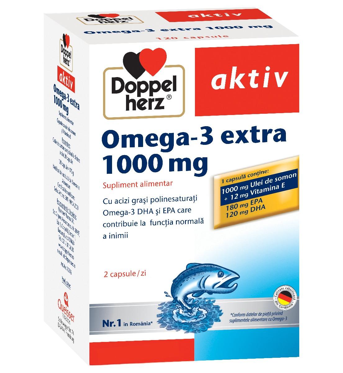 Omega 3 extra 1000 mg, 120 capsule, Doppelherz imagine produs 2021