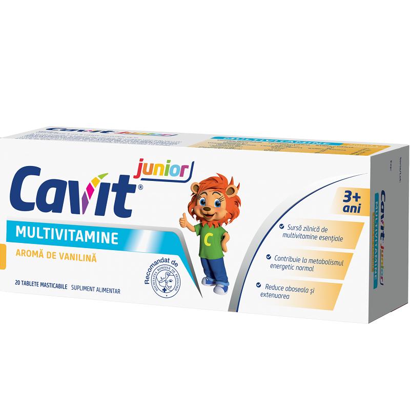 Cavit Junior vanilie, 20 tablete, Biofarm drmax.ro