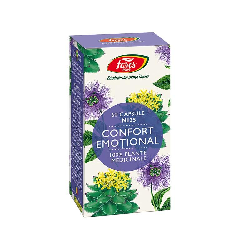 Confort emotional, 60 capsule, Fares imagine produs 2021