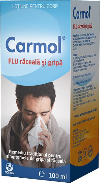 Carmol Flu raceala si gripa, 100 ml, Biofarm drmax poza