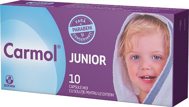 Carmol Junior, 10 capsule, Biofarm drmax.ro