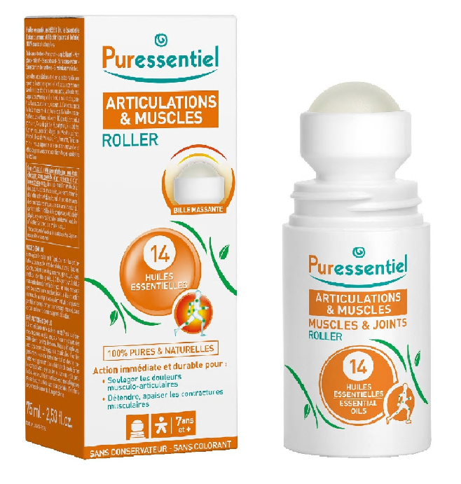 Muscle & Joints - Roller Bio antireumatic cu 14 uleiuri esentiale, 75ml, Puressentiel drmax poza