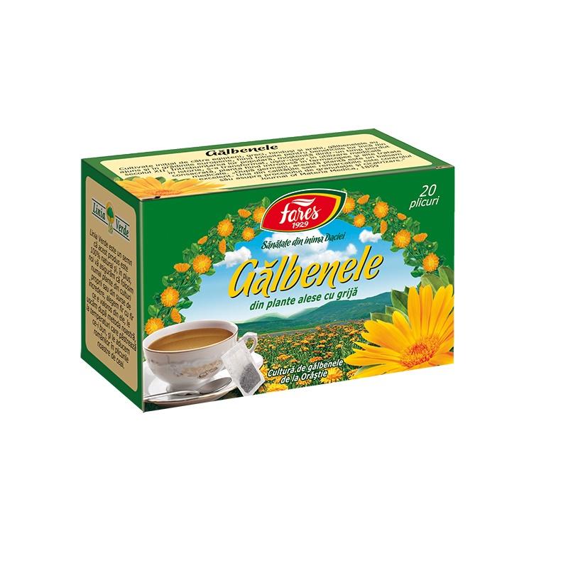 Ceai de Galbenele, 20 plicuri, Fares drmax.ro