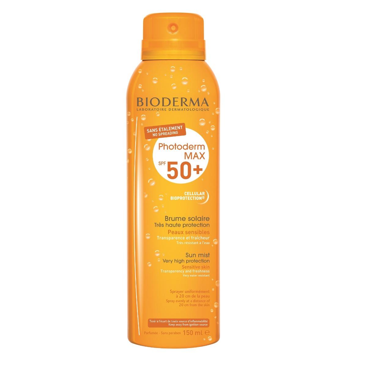 Spray protectie solara SPF 50+ Photoderm MAX Brume, 150ml, Bioderma drmax.ro