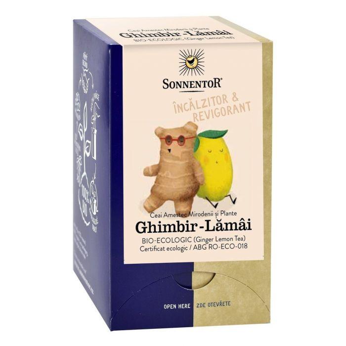Ceai Bio Ghimbir - Lamaie, 18 plicuri, Sonnentor drmax.ro