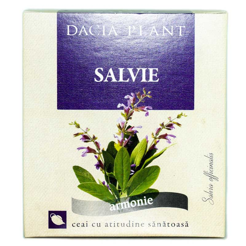 Ceai din frunze de salvie, 50g, Dacia Plant drmax.ro