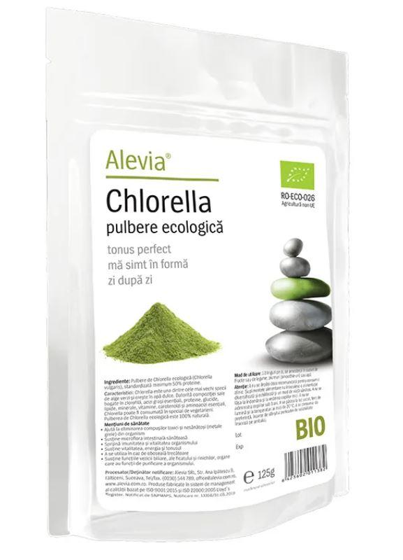 Chlorella pulbere Bio, 125g, Alevia drmax.ro