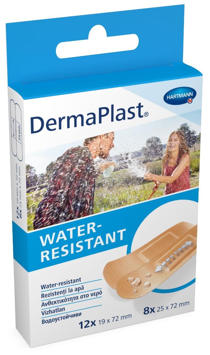 Plasturi rezistenti la apa, 20 bucati, Dermaplast