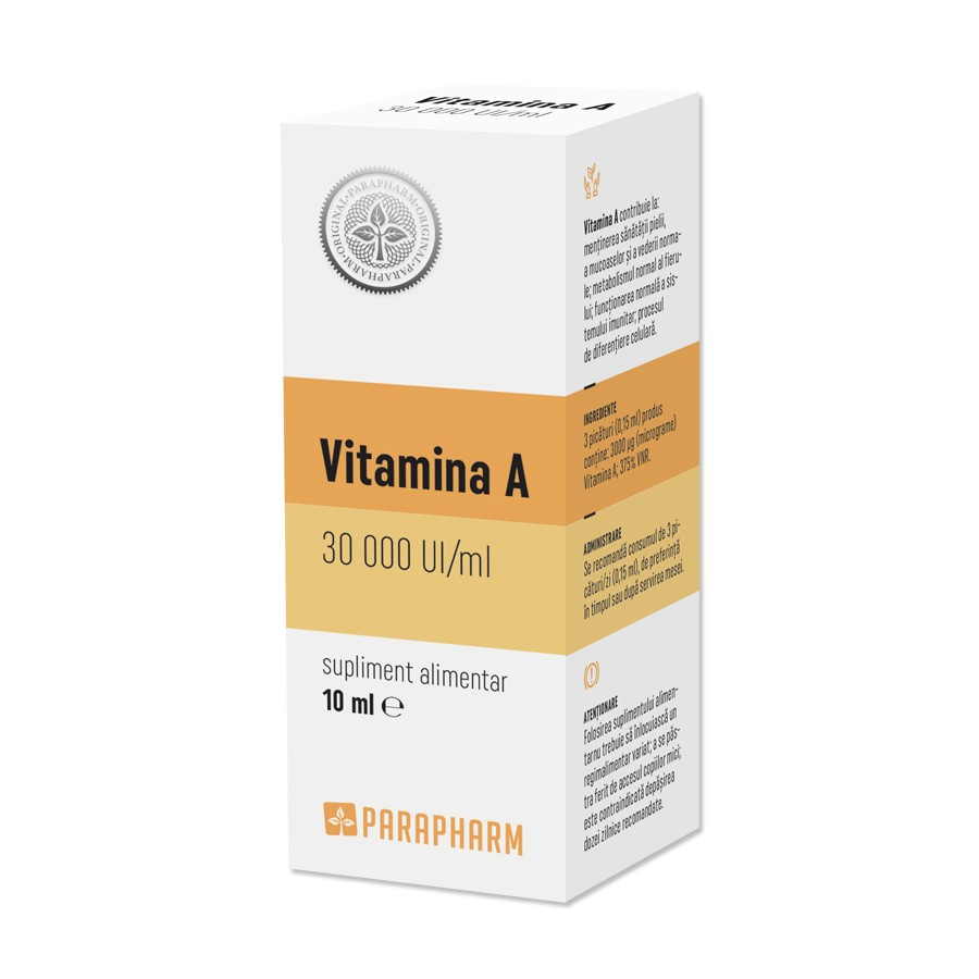 Vitamina A 30 000 UI, 10ml, Parapharm imagine produs 2021