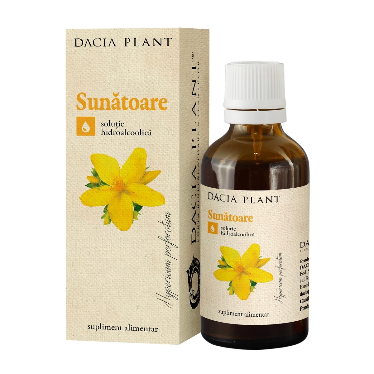 Tinctura de sunatoare, 50ml, Dacia Plant drmax.ro